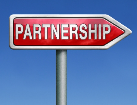 pact: partnership partners in crime or business partner cooperate pact Stock Photo
