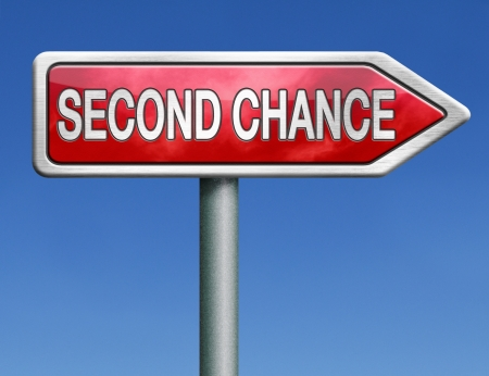 new opportunity: second chance try again another new opportunity give a last attempt Stock Photo
