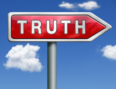 truth be honest honesty leads a long way find justice truth button icon red road sign arrow search truth Stock Photo - 20125472