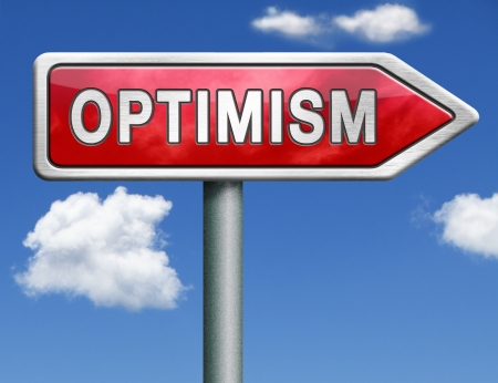 optimism positive thinking a positivity attitude leads to a happy life and mental health optimist optimistic road sign arrow photo
