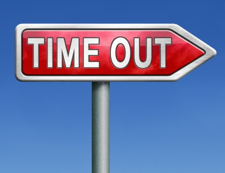 breakout: time out take a break leasure time off relaxation taking a holliday red road sign with text word concept