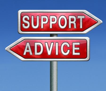 advies en ondersteuning online helpdesk waarschuwingsteken