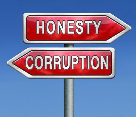 the corruption: corrupt or honest corruption or honesty