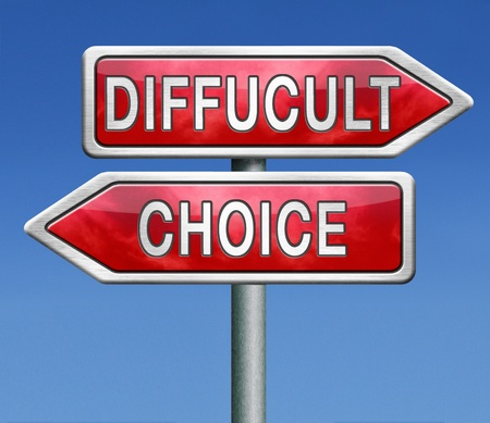 difficult choice or decision when you can't choose Stock Photo - 21175347