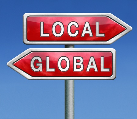 world market: global or local national or international impact services business or world market economic globalization