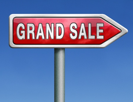 grand sale icon: grand sale sales and reduced prices % off