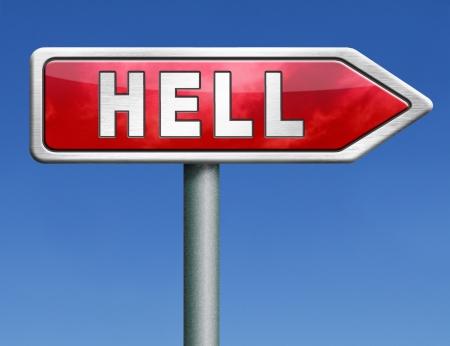 damnation: hell fire punishment for the sinner burn for eternity