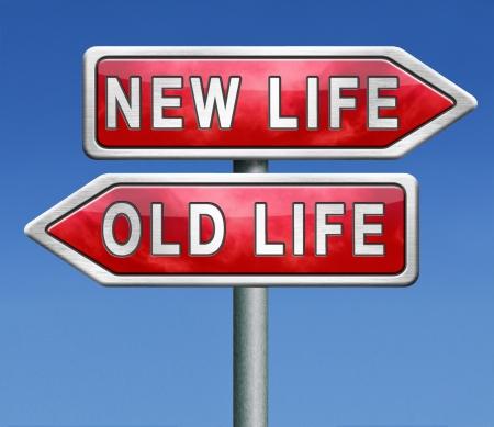 frisse start: oud of nieuw leven nieuwe start of begin kiezen verandering