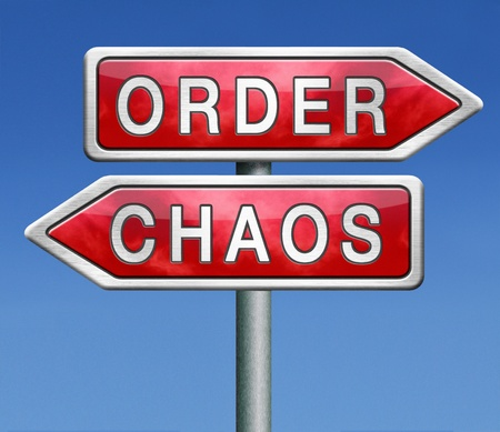 order or chaos in your life or political chaotic theory find or lost the overview photo