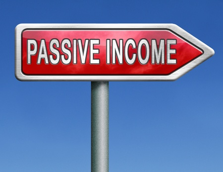 passive: passive income earn money online earn more work less residual recurring income  Stock Photo
