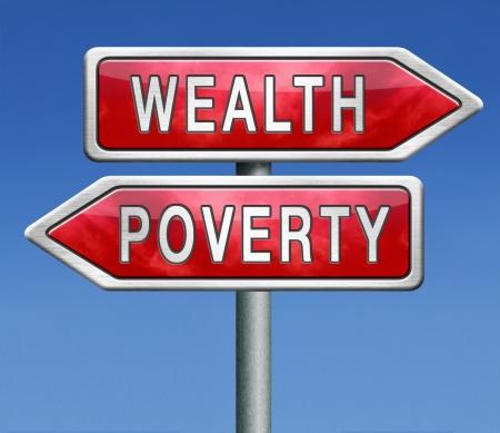 mala suerte: trampa de la riqueza o la pobreza rico o pobre depende de la suerte o la desgracia forture bueno o malo Foto de archivo