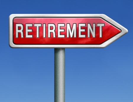 retirement ahead retire fund or plan golden years photo