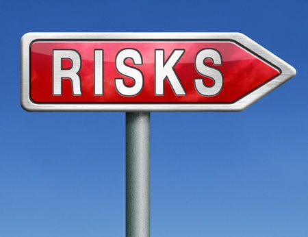 risk assessment or risks management and analysis benefit cost and security and safety hazard Stock Photo - 21175472