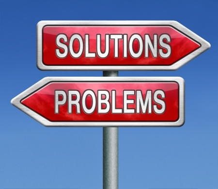 worse: solution or problem solve the problems and find solutions, solving them before they get worse. Stock Photo