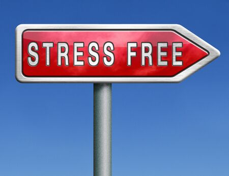 stress free work zone office job or life by yoga and relaxation vacation stop agitation no worries photo