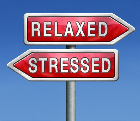 destress: stress therapy and management helps in relaxation  Stock Photo