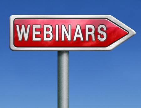 webinar online internet web conference or workshop true video chat photo