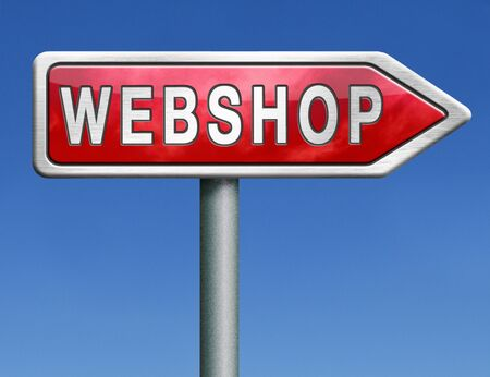 web shop online internet shopping webshop icon or button  photo