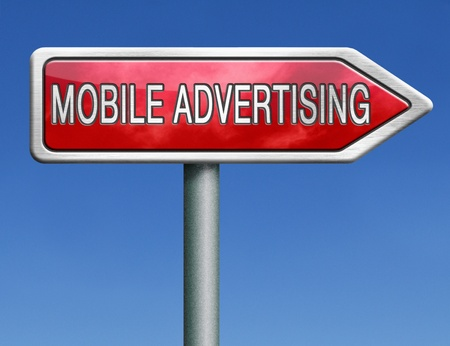 mobile advertising marketing online internet commercial Stock Photo - 21393136