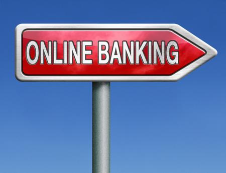 cuenta bancaria: Internet de banca en l?nea de la cuenta bancaria de servicio Foto de archivo