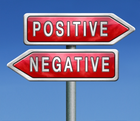 positive thinking or think negative positivity or negativity is all in the mind optimistic or pessimistic look at sunny side of life is a good attitude photo