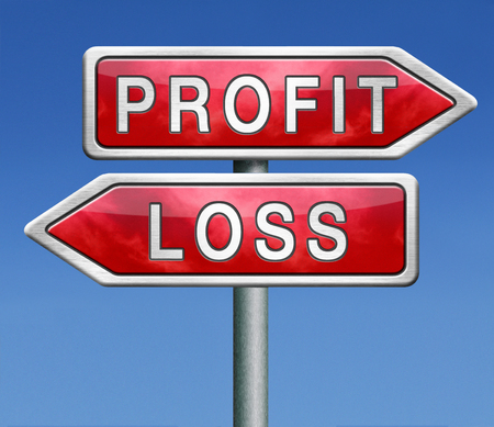 profit or loss win or loose financial on stock market economy earning or loosing money trough the risk of a risky investment photo