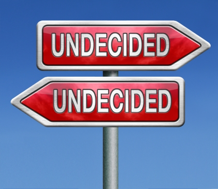 dubious: undecided and having a difficult choice when you cant choose being doubtful or in doubt because of confusion you become insecure and indecisive Stock Photo