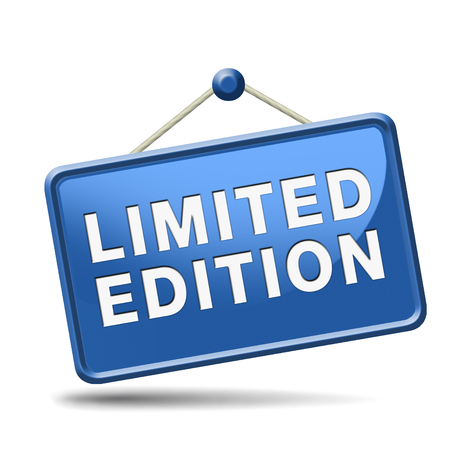special edition: limited offer icon. Temporal and restricted stock promotion offer Stock Photo