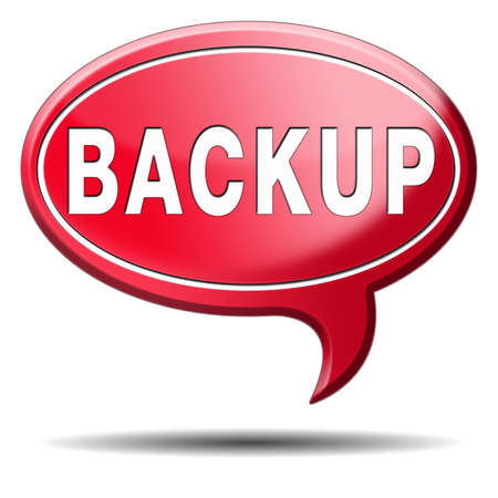 harddrive: Backup data and software on copy in the cloud on a harddrive disk on a computer or server for file security. Copying document for safe storage. Icon sign or button.  Stock Photo