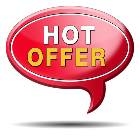 webshop: hot offer icon for online internet web shop concept. Webshop shopping sales button announcing bargain for low and best price with the best value for you money.