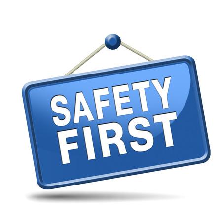 seguridad e higiene: primero las reglas de seguridad para la seguridad en el trabajo y la vida segura y saludable, icono de la gesti�n de riesgos o banners