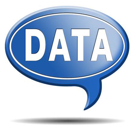 data storage management and mining icon or sign photo