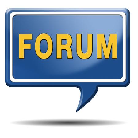 forum internet website www logon login discussion Stock Photo - 22914904