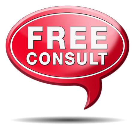 consultation: free consult icon help desk and customer support. Gratis custom consultation service and advice.  Stock Photo