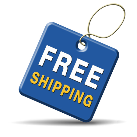 shipping order: free shipping or delivery order web shop shipment for online shopping at internet webshop ecommerce button
