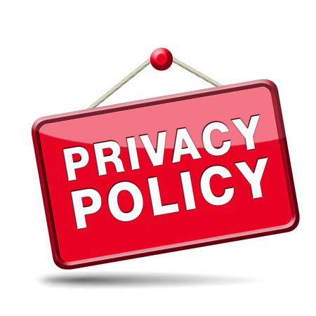 개인 정보 보호 정책 데이터 및 개인 정보 보호에 대한 규정. 안전 아이콘 레이블이나 기호. 스톡 콘텐츠