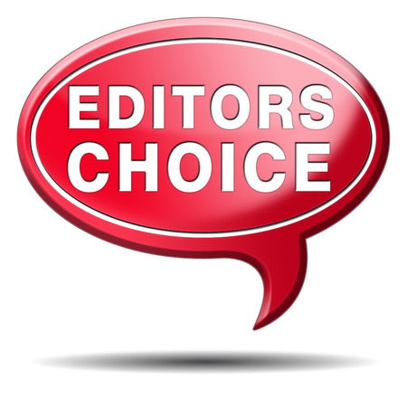 editors: editors choice or award sign or icon best editor selection and editor Stock Photo