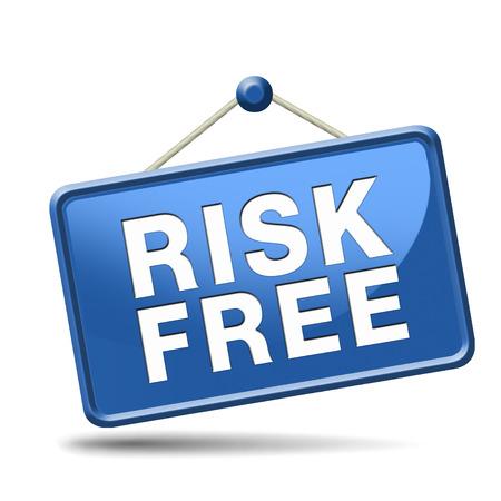 safe investments: garanzia risk free soddisfazione 100% alta qualit� del prodotto web shop investimento sicuro garantito alcun rischio segno icona o la sicurezza prima bandiera