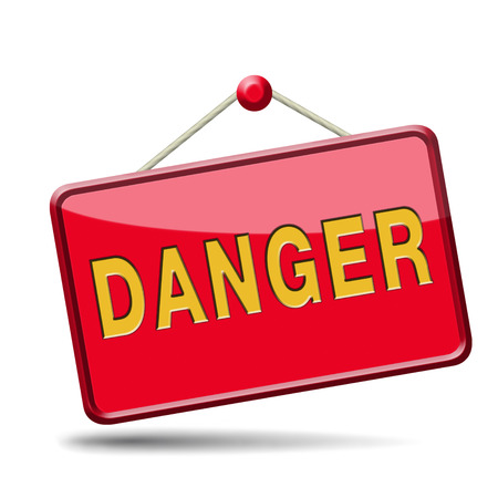 danger icon or dangerous sign  Stock Photo - 22969332