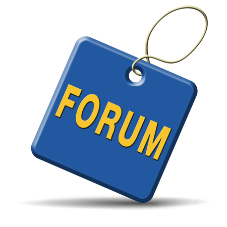logon: forum internet website www logon login discussion Stock Photo
