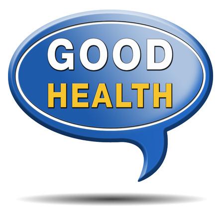 good health: goede gezondheid gezond leven en vitaliteit energie gezonde geest en lichaam pictogramknoop