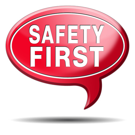 safety first rules for security at work and safe and healthy life, risk management icon or banner Stock Photo - 22969484