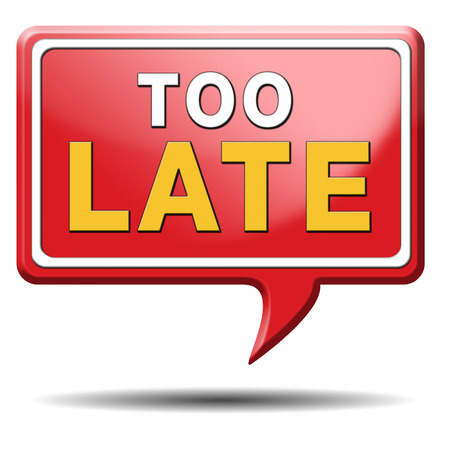 missed: too late time is up and you missed the deadline train or flight connection Stock Photo