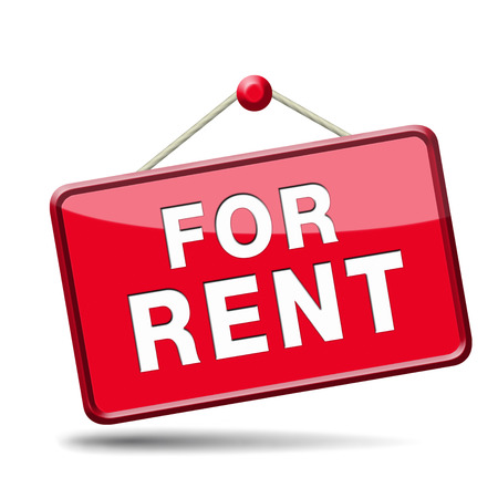 to let: apartment or house for rent banner, renting a room or flat or other real estate sign. Home to let icon.  Stock Photo
