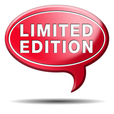 special edition: limited and restricted edition or offer. Temporal promotion of new product.  Stock Photo