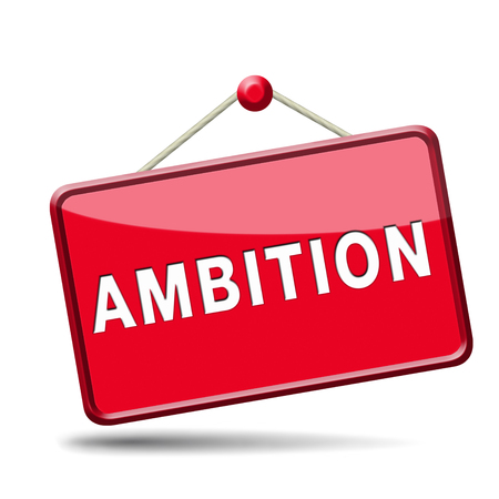 ambition set and achieve goals change future and be successful icon banner or sign photo