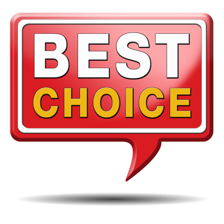 best choice top quality label best icon best product comparison button with text and word concept photo