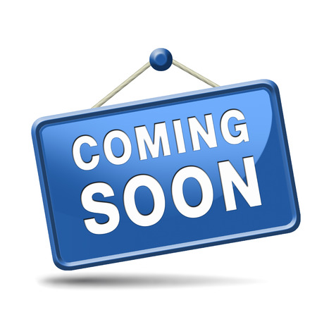 次回のプロモーションまですぐにブランドの新製品のリリースとアイコンの記号または発表のバナーを発表