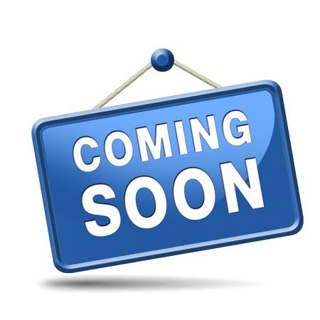 binnenkort nieuwe product release next up promotie en kondigen pictogram teken of aankondiging banner