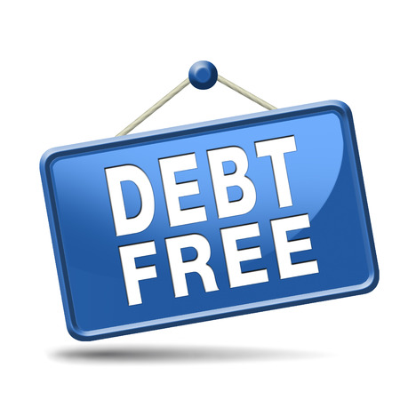 debt free zone or tax reduction today relief of taxes having good credit financial success paying debts for financial freedom photo